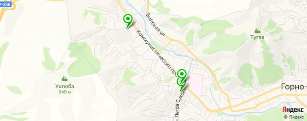 ночные клубы на карте Горно-Алтайска