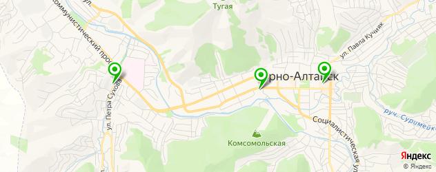 рестораны для свадьбы на карте Горно-Алтайска