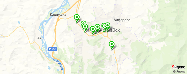 Доставка тортов на карте Горно-Алтайска