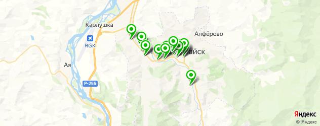 Доставка еды на карте Горно-Алтайска