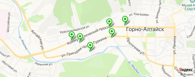 бары на карте Горно-Алтайска