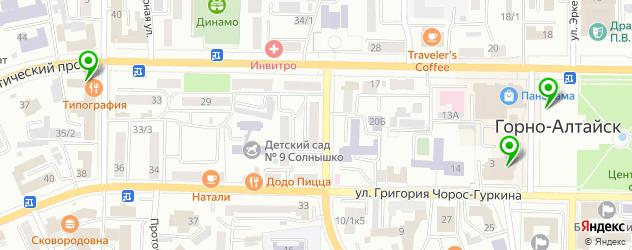 Доставка завтраков на карте Горно-Алтайска