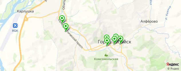 кафе с живой музыкой на карте Горно-Алтайска