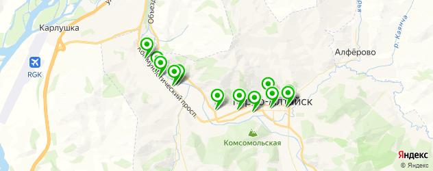 студии загара на карте Горно-Алтайска