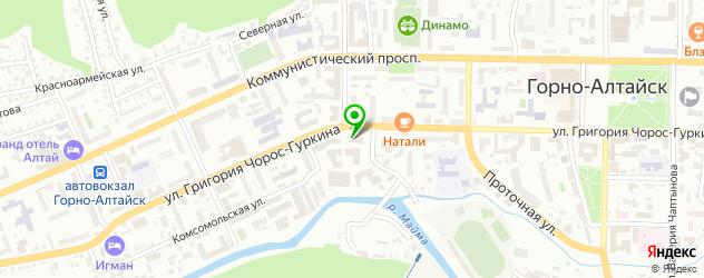 рестораны с детской комнатой на карте Горно-Алтайска