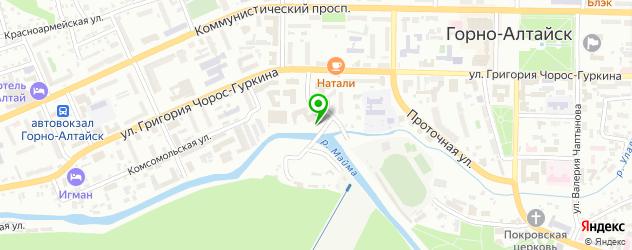 институты на карте Горно-Алтайска
