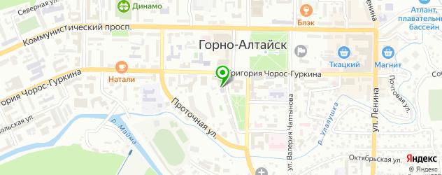НИИ на карте Горно-Алтайска