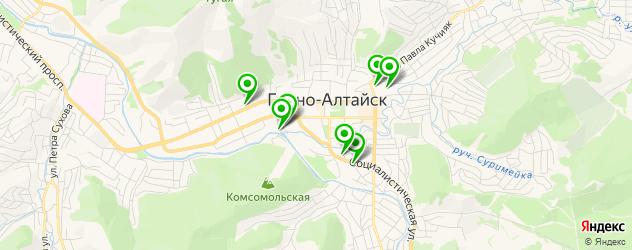 ВУЗы на карте Горно-Алтайска