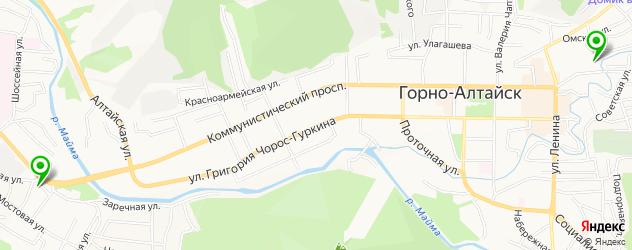 бассейны на карте Горно-Алтайска