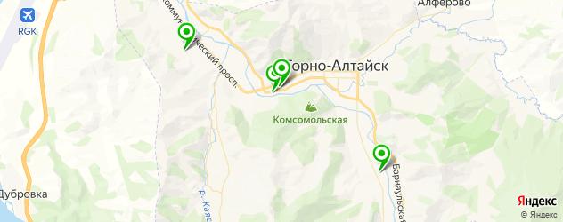 спортивные клубы на карте Горно-Алтайска