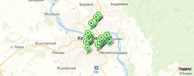 Доставка роллов на карте Кемерово