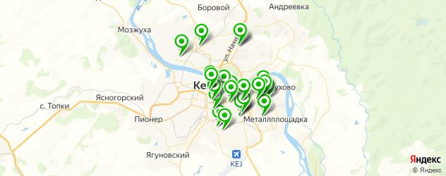 бары с танцполом на карте Кемерово