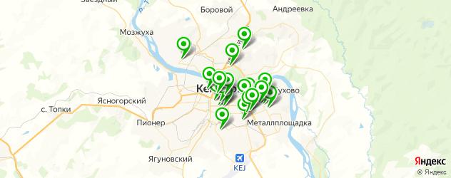 Доставка еды на карте Кемерово