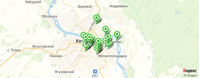 рестораны с танцполом на карте Кемерово