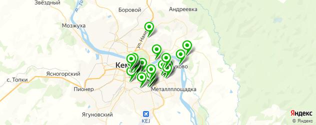 рестораны с живой музыкой на карте Кемерово