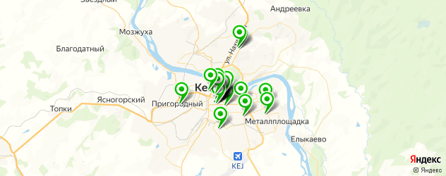 Красота на карте Кемерово