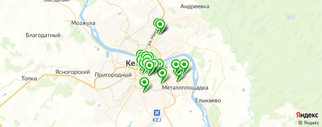 парикмахерские на карте Кемерово