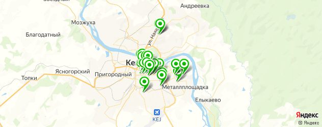студии маникюра на карте Кемерово