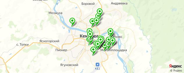 автостоянки на карте Кемерово