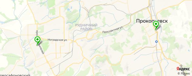 японские рестораны на карте Прокопьевска