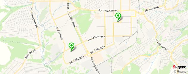 велнесы-клубы на карте Прокопьевска