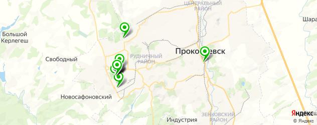 ВУЗы на карте Прокопьевска