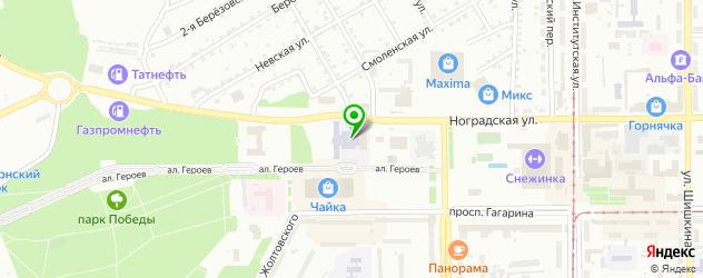 теннисные корты на карте Прокопьевска