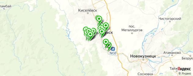 кафе на карте Прокопьевска