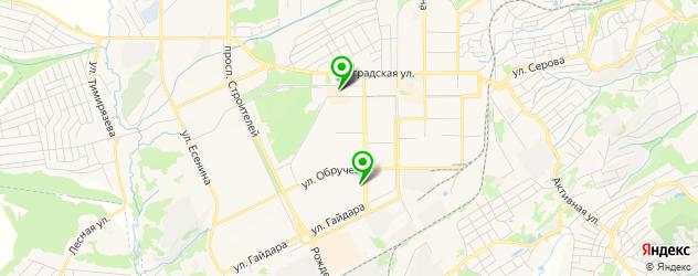 караоке-клубы на карте Прокопьевска