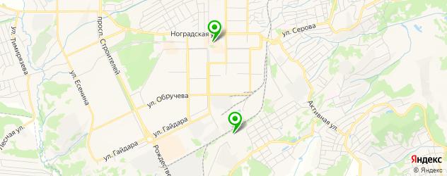 бильярдные клубы на карте Прокопьевска