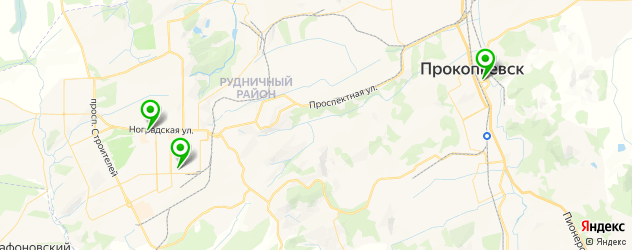 автостоянки на карте Прокопьевска