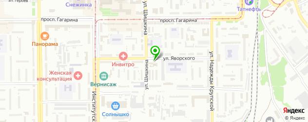 гаражи на карте Прокопьевска