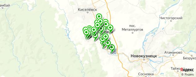школы на карте Прокопьевска