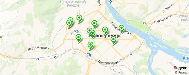 театры на карте Новокузнецка