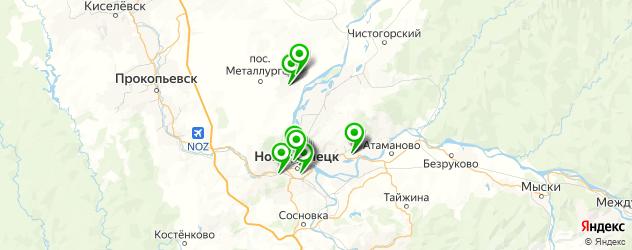 Доставка шашлыка на карте Новокузнецка
