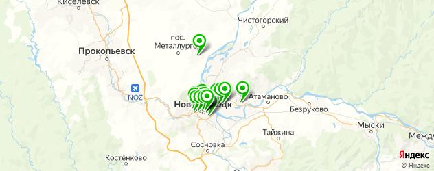 Развлечения на карте Новокузнецка