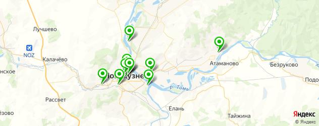 бары с танцполом на карте Новокузнецка