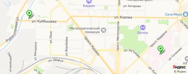 клиники пластической хирургии на карте Новокузнецка