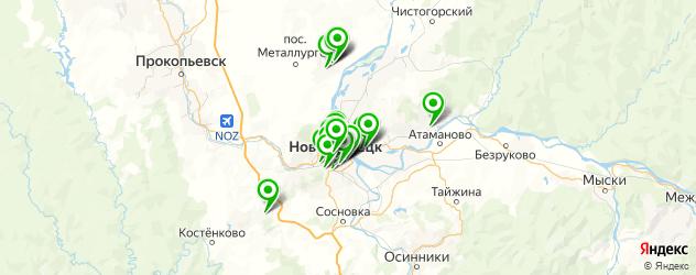 банкоматы с функцией приема наличных на карте Новокузнецка