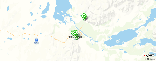 ночные клубы на карте Норильска