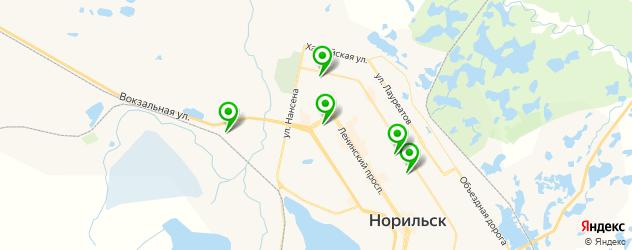 караоке-клубы на карте Норильска