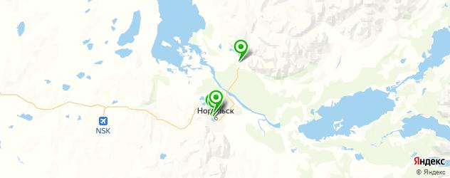йога-центры на карте Норильска