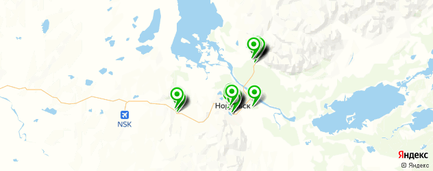 школы на карте Норильска