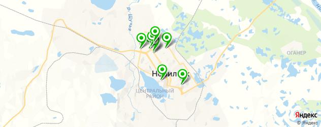 Доставка шашлыка на карте Норильска