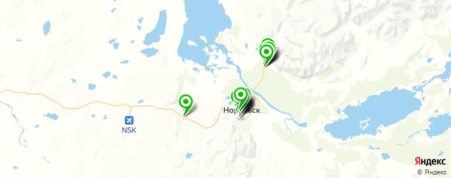рестораны с живой музыкой на карте Норильска