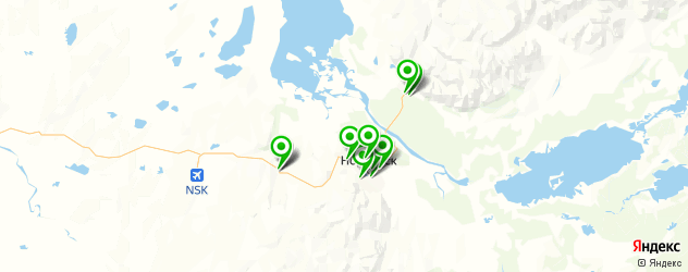 АЗСЫ на карте Норильска