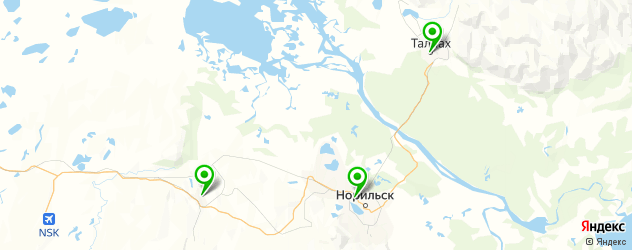 стоматологические поликлиники на карте Норильска