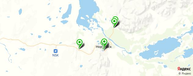 меховые ателье на карте Норильска