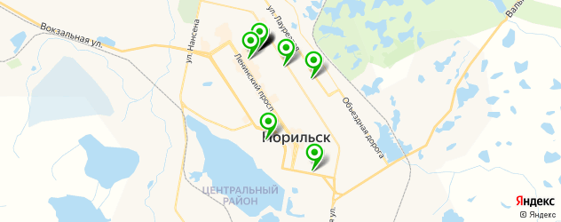 ВУЗы на карте Норильска