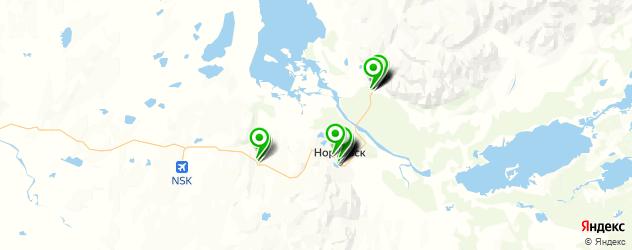 пирсинги салон на карте Норильска